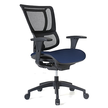 Staples Professional Series 1500TF Chair, Mesh Back & Fabric Seat, Midnight