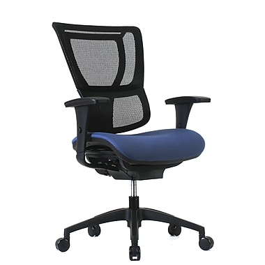 Staples Professional Series 1500TF Chair, Mesh Back & Fabric Seat, Periwinkle