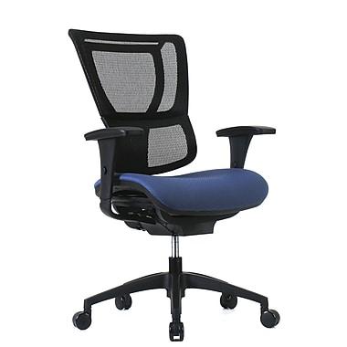 Staples – Fauteuil professionnel 1500TF à dossier en filet et siège en tissu, bleu pervenche