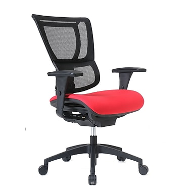 Staples Professional Series 1500TF Chair, Mesh Back & Fabric Seat, Real Red