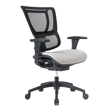 Staples Professional Series 1500TF Chair, Mesh Back & Fabric Seat, Shale