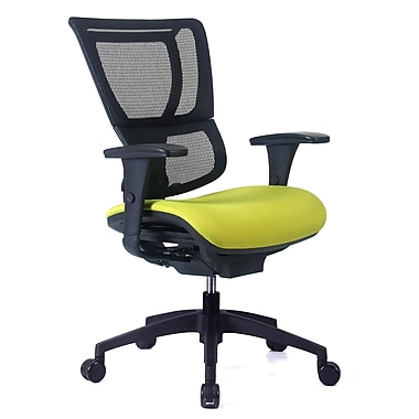 Staples Professional Series 1500TF Chair, Mesh Back & Fabric Seat, Wasabi