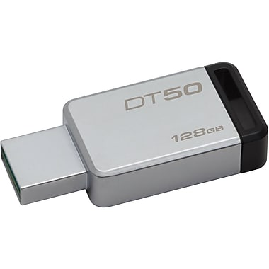 Kingston DataTraveler USB 3.0 Flash Drive, 128 GB (DT50/128GB )