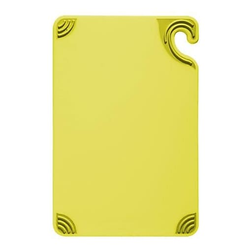 """San Jamar 9"""" x 12"""" x 3/8"""" Yellow Cutting Board (CBG912YL)"""