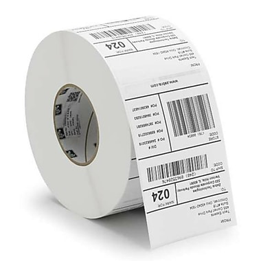 Zebra® Z-Select® 800272-125 4000T Paper Thermal Transfer Label for Barcode Printers, 2 1/4
