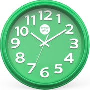 "Office + Style 13"" Silent Quartz Color Wall Clock with Anti-Scratch Cover OS-1CLOCK- Green"