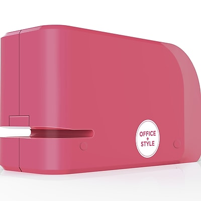 Office + Style Automatic Electric Stapler- Pink