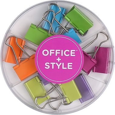 Office + Style Colored 32 mm Binder Clips, 12 pcs