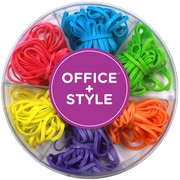 Office + Style Colored Rubber Bands, 120 pcs