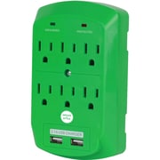 Office + Style wall surge protector - Green