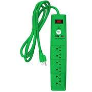 Office + Style 6 ft surge protector - Green