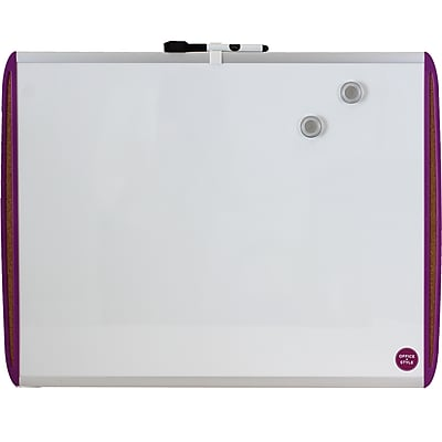 Office + Style 18x24 Whiteboard with Tack Board- Purple