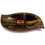 JasmineArtGlass Oval Platter w/ Glass Leg