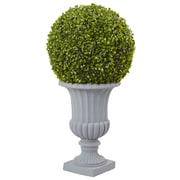 Nearly Natural Allison Boxwood Topiary in Urn