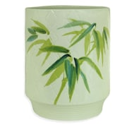 Bacova Guild Zen Bamboo Ceramic Trash Can