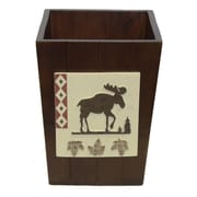Bacova Guild North Ridge Wood Trash Can