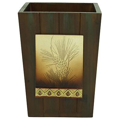 Bacova Guild Pine Cone Waste Basket