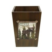 Bacova Guild Vintage Outdoors Wood Trash Can