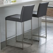 Mobital Tate 26'' Bar Stool; Grey