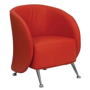Offex Hercules Jet Series Leather Reception Chair; Red