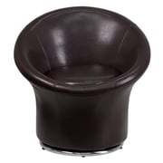 Offex Swivel Leather Reception Chair; Brown