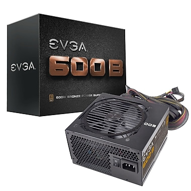 EVGA 600W 80Plus Bronze Power Supply (100-B1-0600-KR)