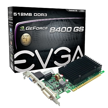 EVGA GeForce® 8400GS 512 MB Graphics Card (512-P3-1301-KR)