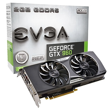 EVGA GeForce® GTX960 FTW Gaming ACX 2 GB GDDR5 Graphics Card (02G-P4-2963-KR)