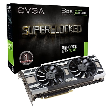 EVGA GeForce® GTX1070 SC 8 GB GDDR5 Graphics Card (08G-P4-6173-KR)