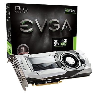EVGA – Carte graphique GeForce GTX1080 Founders (08G-P4-6180-KR)