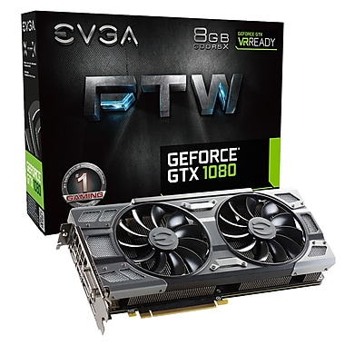 EVGA GeForce® GTX1080 FTW Gaming ACX Graphics Card (08G-P4-6286-KR)