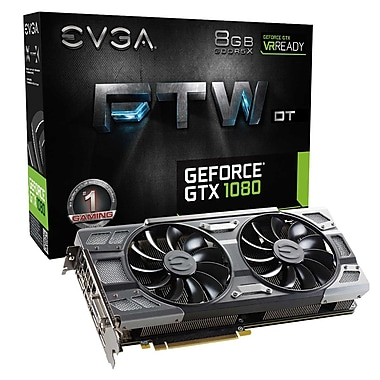 EVGA GeForce® GTX1080 FTW Gaming DT ACX 3 Graphics Card (08G-P4-6284-KR)