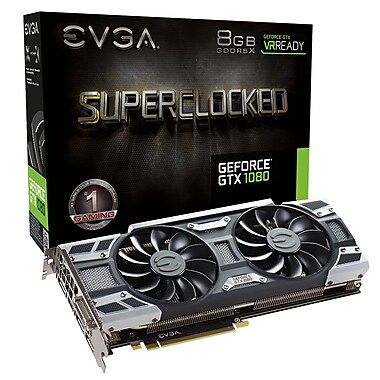 EVGA GeForce® GTX1080 SC Superclocked Gaming ACX3 Graphics Card (08G-P4-6183-KR)