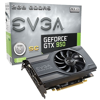 EVGA GeForce® GTX950 SC 2 GB GDDR5 Graphics Card (02G-P4-2951-KR)