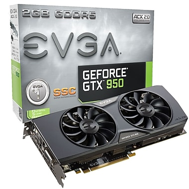 Carte graphique EVGA GeForceMD GTX950 SSC 2 GB GDDR5 (02G-P4-2957-KR)