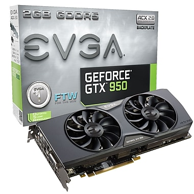 EVGA GeForce® GTX950 FTW Gaming ACX 2 GB GDDR5 Graphics Card (02G-P4-2958-KR)