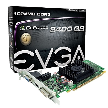 Carte graphique EVGA GeForceMD 8400GS 1 GB SDDR3 (01G-P3-1302-LR)