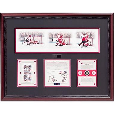 Heritage Hockey History Unfolds: Paul Henderson & Vladislav Tretiak Signed Limited Edition Summit Series Framed Print (20009)