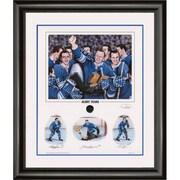 Heritage Hockey – Reproduction encadrée Glory Years, édition limitée, signée par Bobby Baun, Johnny Bower et Ron Ellis (20023)