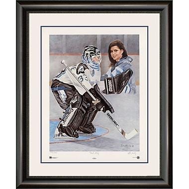 Heritage Hockey – Reproduction encadrée First Lady: Manon Rhéaume, édition limitée, signée par l'artiste John Newby (20032)