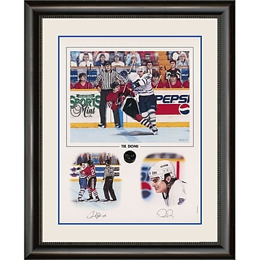 Heritage Hockey Tie Domi Toronto Maple Leafs Signed Limited Edition Framed Print (20039)