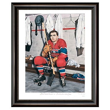 Heritage Hockey For The Love Of The Game: Maurice Richard Montreal Canadiens Legends Series Framed Print, 12