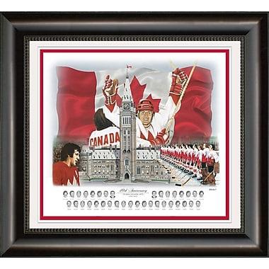 Heritage Hockey – Reproduction encadrée du 40e anniversaire de l'équipe Canada de 1972, 8,5 x 11 po (20069)