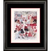 Heritage Hockey – Reproduction encadrée du collage de la série du siècle signée par Paul Henderson (20079)