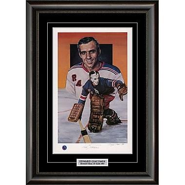 Heritage Hockey Ed Giacomin New York Rangers Signed Limited Edition Framed Print (20088)