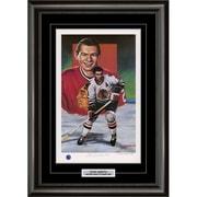 Heritage Hockey – Reproduction encadrée édition limitée signée par Stan Mikita des Blackhawks de Chicago (20090)