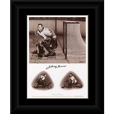 Heritage Hockey – Reproduction encadrée signée par la légende Johny Bower (20103)