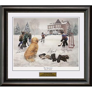 Heritage Hockey The Spectator: Paul Henderson, Phil Esposito & Tony Esposito Signed Framed Print (20162)