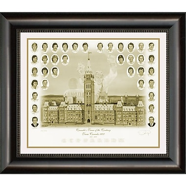 Heritage Hockey Canada's Team Of The Century Team Canada 1972 Sepia Tone Framed Print (20242)