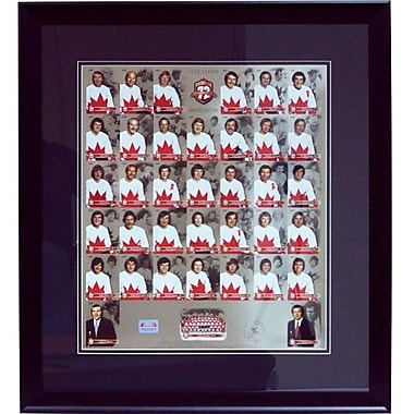 Heritage Hockey Team Canada 1972 40th Anniversary Framed Un-Cut Limited Edition Collector Card Set (20306)